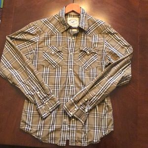 Hollister Large Snap Button Down